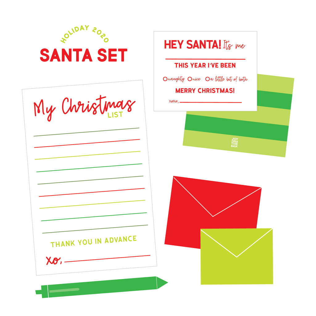 Letters to Santa Stationery Set