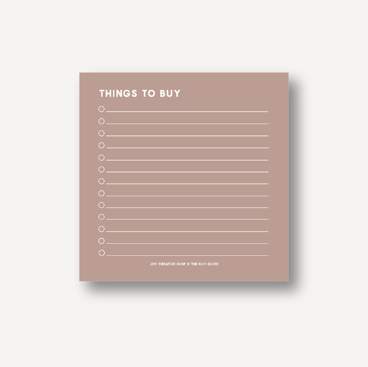 The Buy Guide Collab : What to Buy Notepad