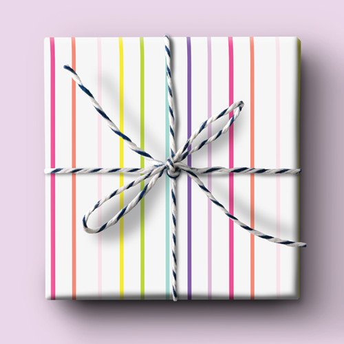 Rainbow - Thin Stripe Wrapping Paper
