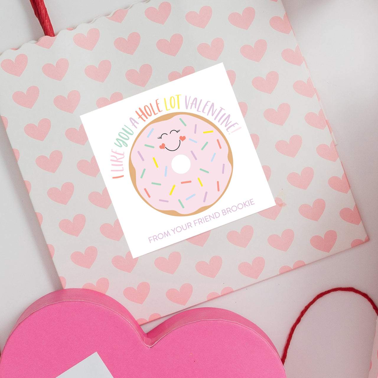 Donut Valentine Sticker - Joy Creative Shop