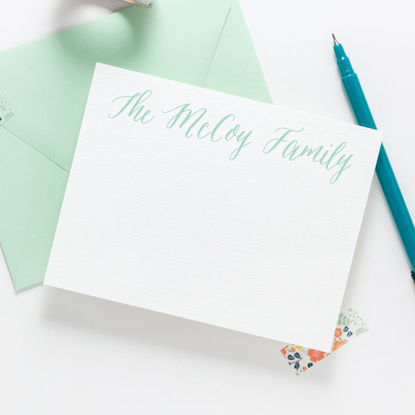 Classic Calligraphy Stationery 020NC - Joy Creative Shop