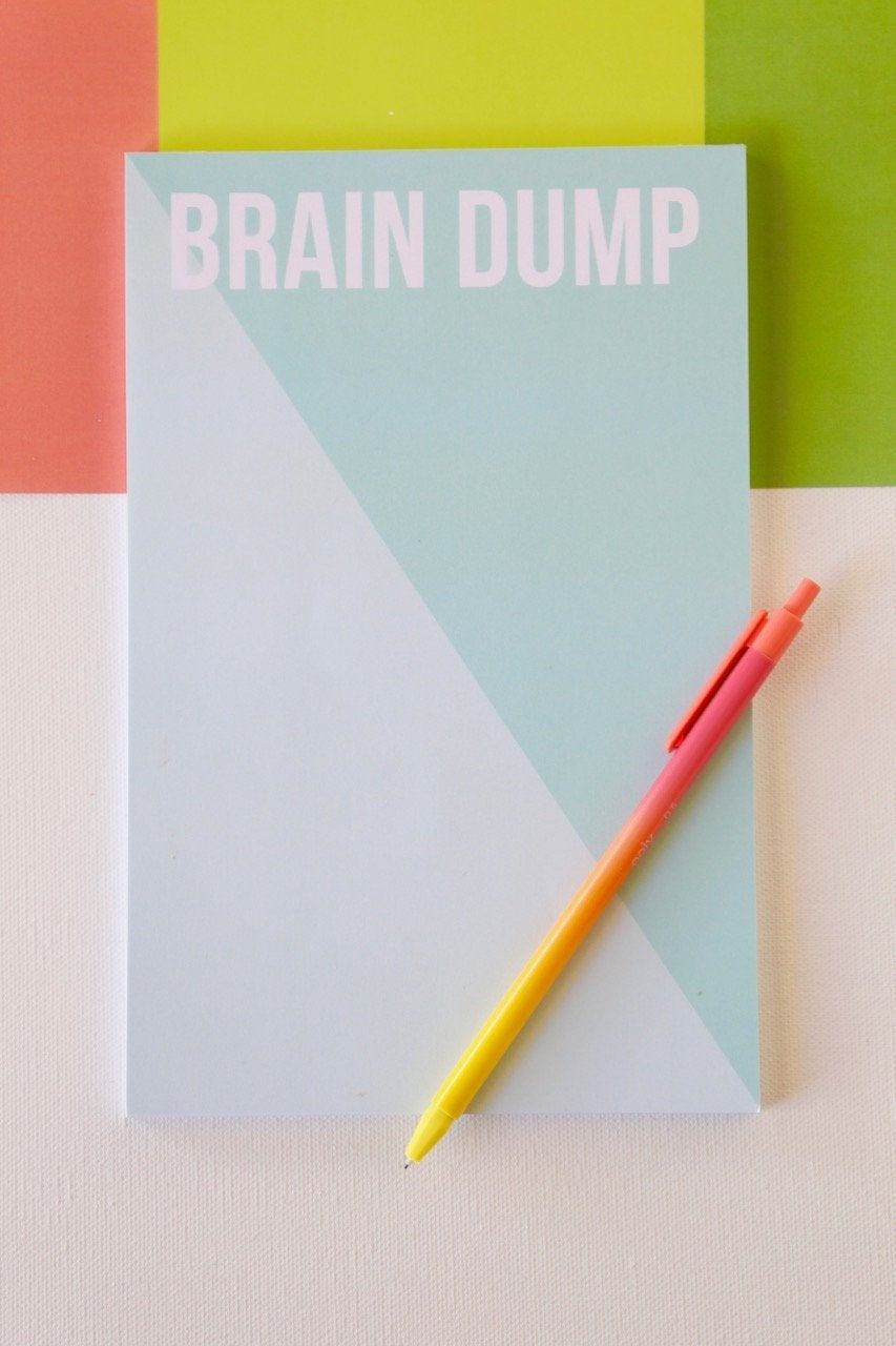Brain Dump Notepad - Joy Creative Shop