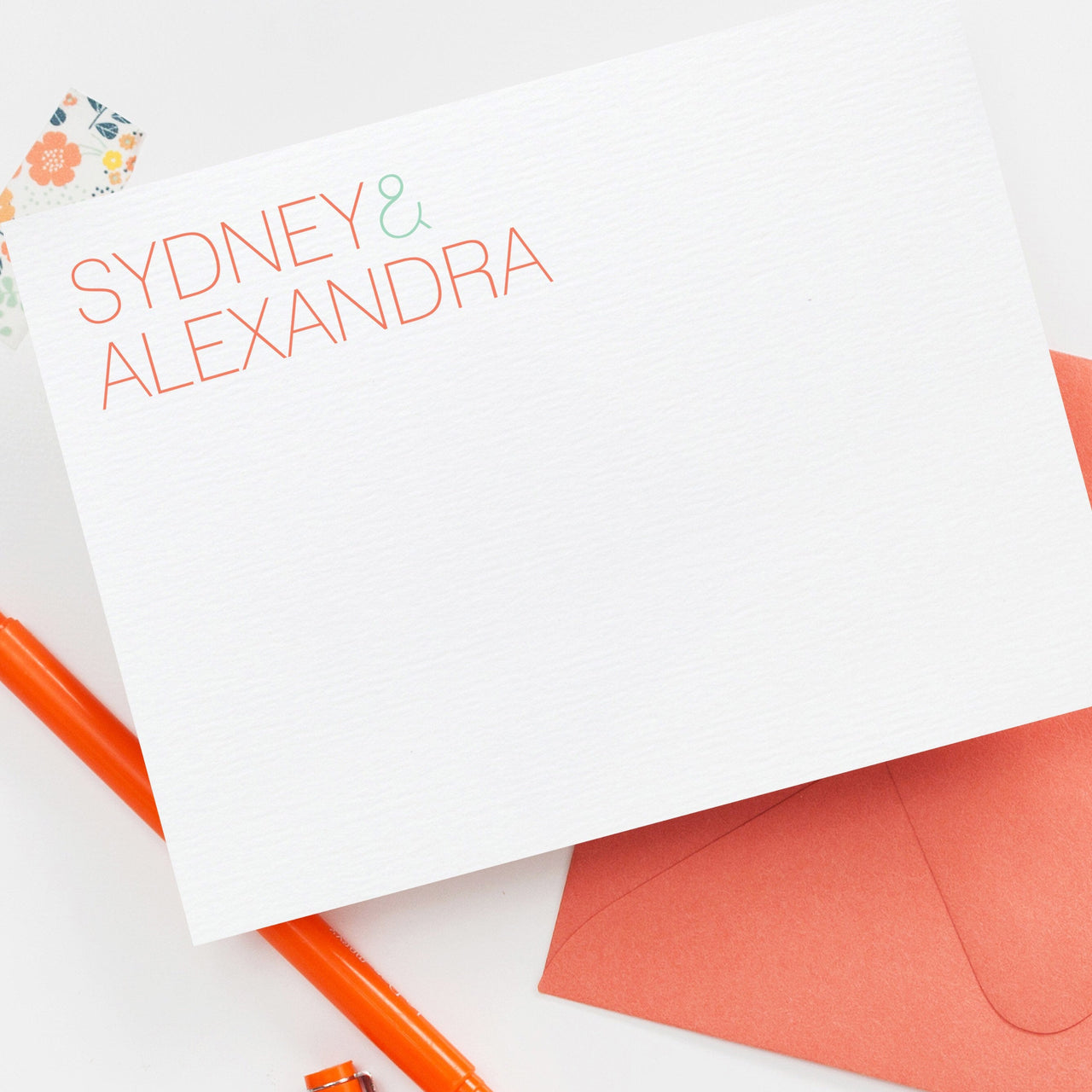 Sibling Stationery, Couples Stationery, wedding stationery, kids personalized stationery, family stationery, Custom Stationery, 006NC - Joy Creative Shop