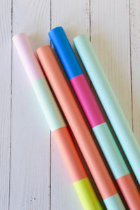 Color blocked gift wrap - Joy Creative Shop
