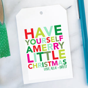 Merry Little Christmas Tag - Joy Creative Shop