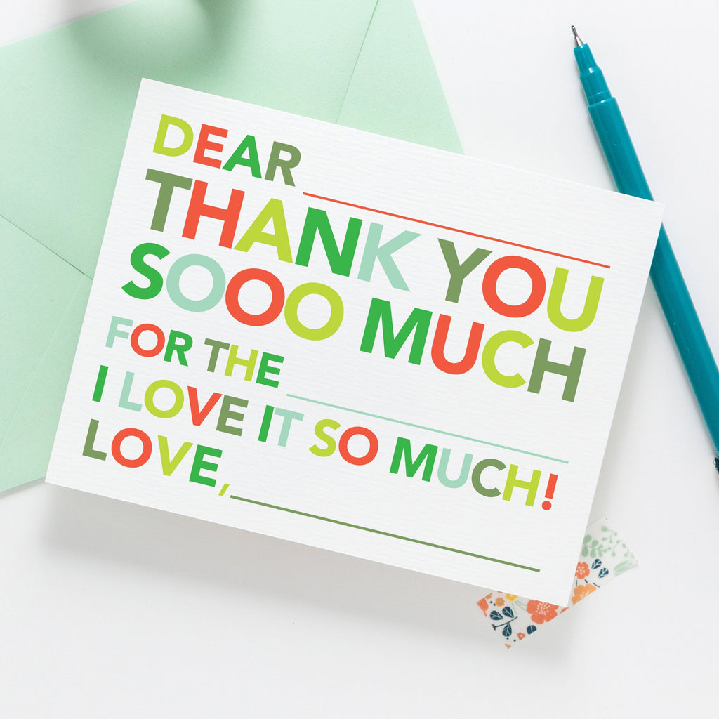 Kids Holiday Fill in Thank You Notes - Joy Creative Shop