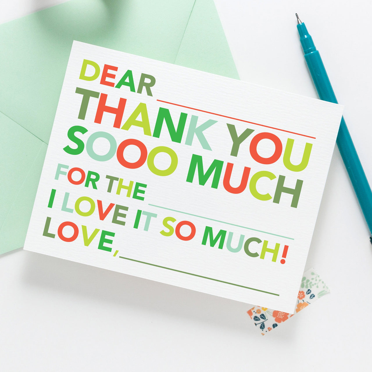 Kids Fill in Thank You Notes - Holiday - Joy Creative Shop