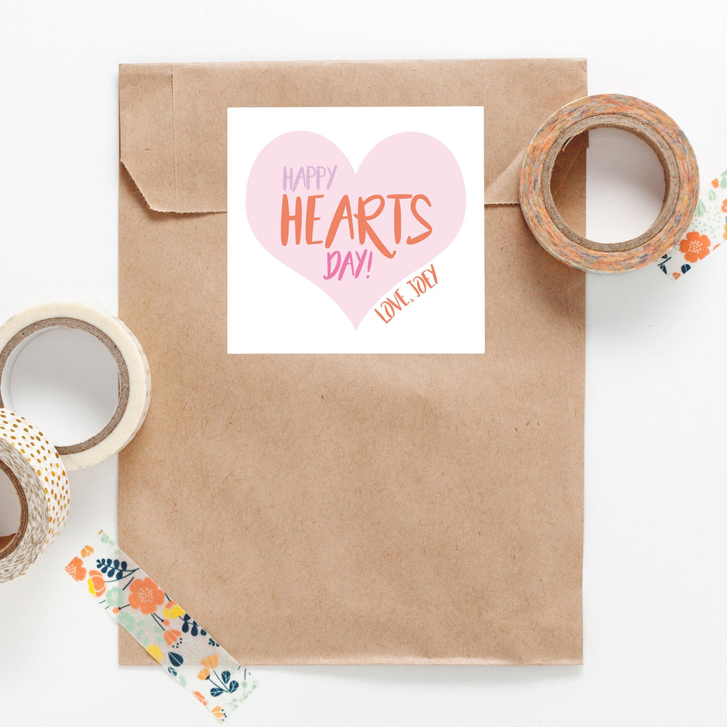 Large Heart Valentine Personalized Sticker