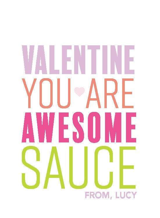 You are Awesome Sauce Valentine Pink,Valentine's sticker,Square Stickers,Personalized Stickers,Custom Stickers,Name Stickers,holidaystickers