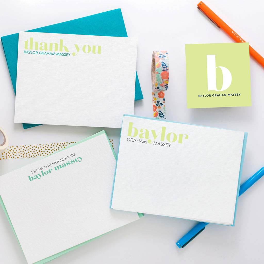 Baby Stationery Collection 1 - Joy Creative Shop