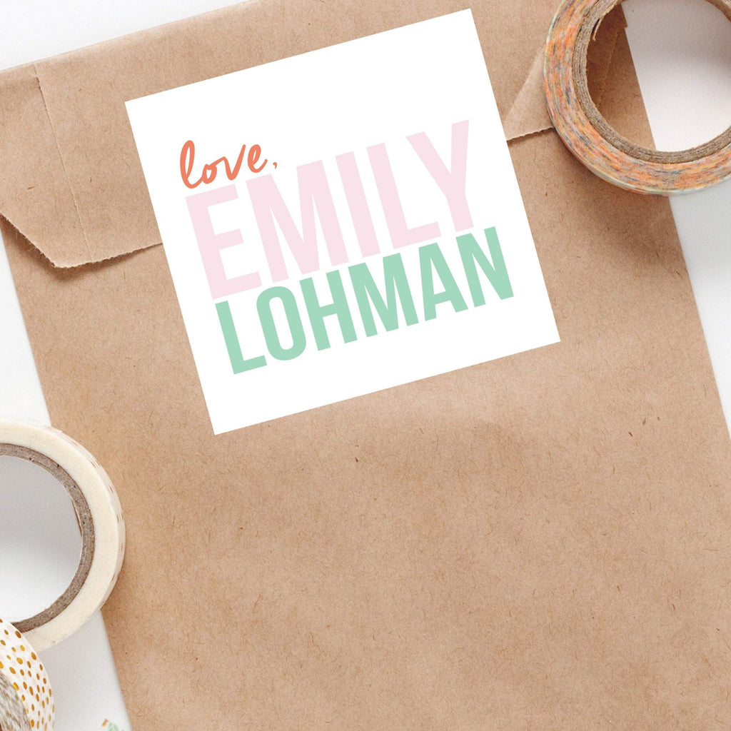 Custom Love Stacked Name Stickers - Joy Creative Shop