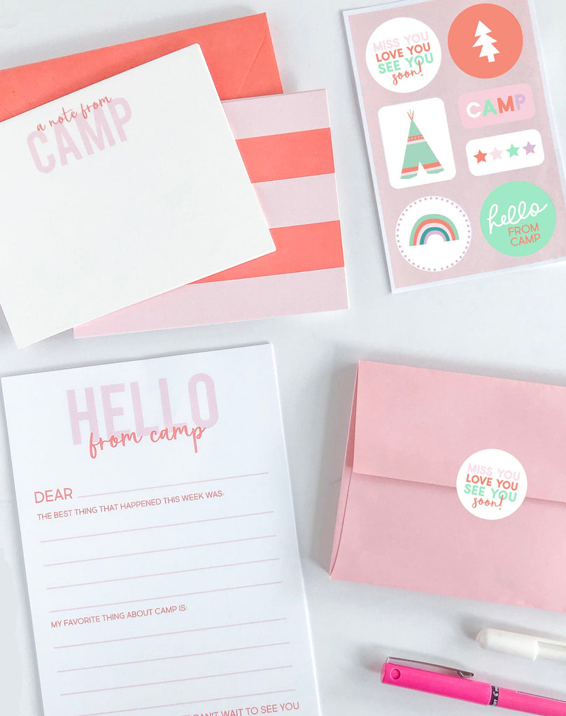 Summer Camp Stationery Set - Pink - Joy Creative Shop
