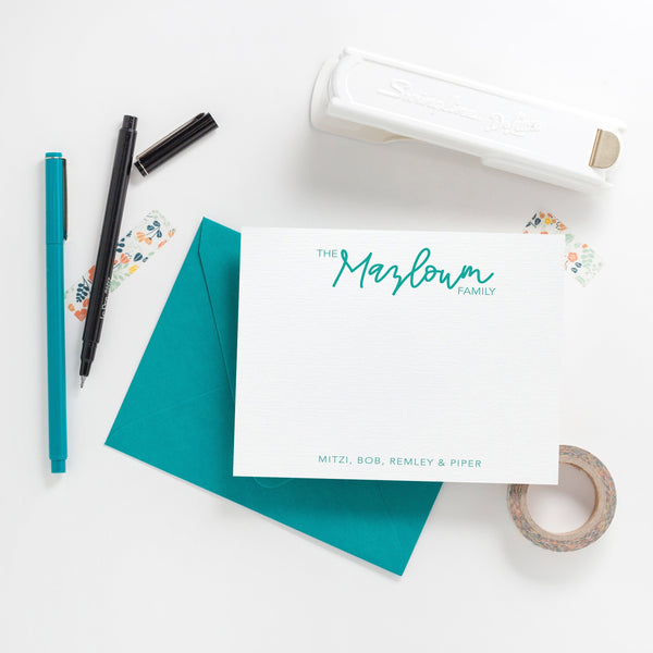 Handwritten Family Stationery - Joy Creative Shop