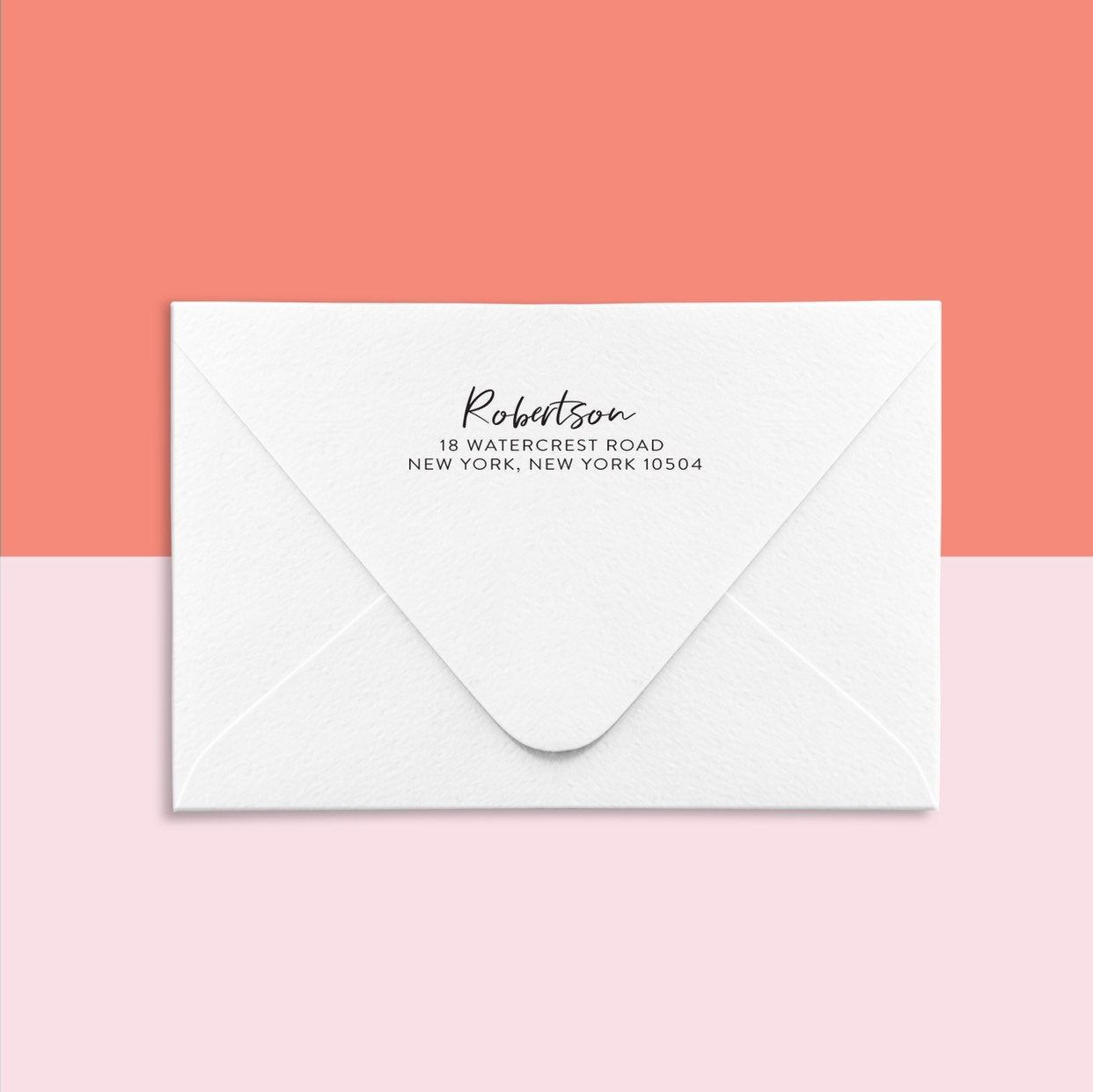 ADD-ON Custom return address printing Style 2 - Joy Creative Shop