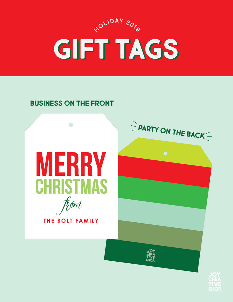 Custom Family Christmas tags, We wish you a very merry Christmas,Family Gift Tags,Christmas packaging, Holiday gift wrap, Holiday Tags 007HT - Joy Creative Shop