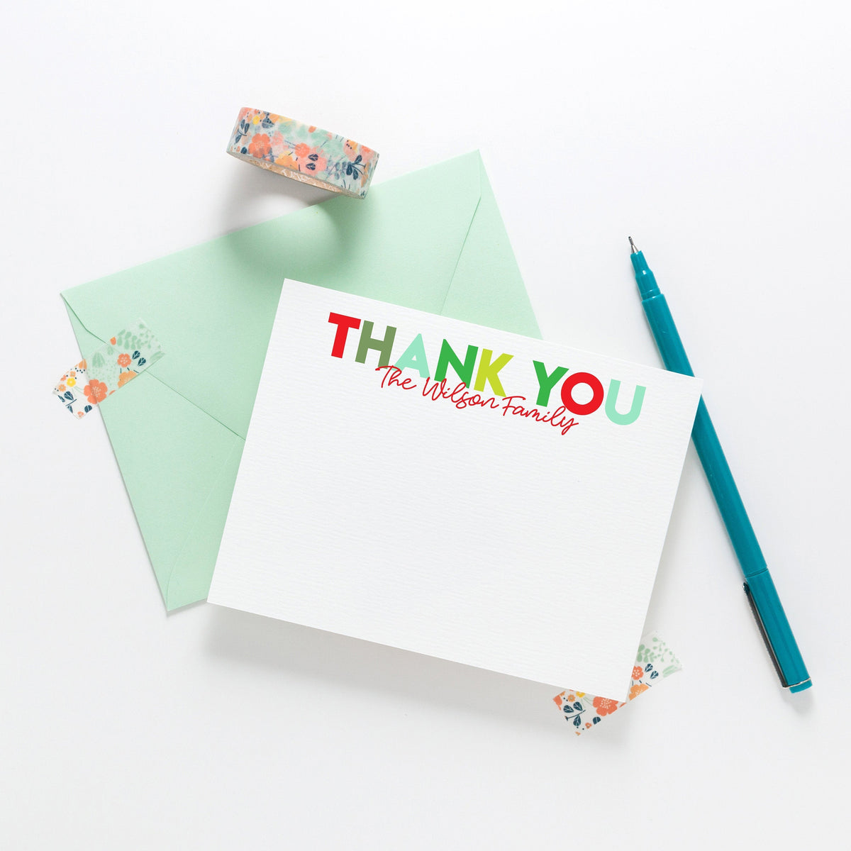 Holiday Thank You Notes, Family Stationery, Christmas Stationery, Personalized Stationery, Thank You Notecards, Custom Note Cards 001HNC - Joy Creative Shop