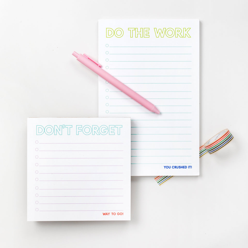 Task Note Pads, Don't forget notepads, desk notepads, easter basket gifts, kids notepads - Joy Creative Shop