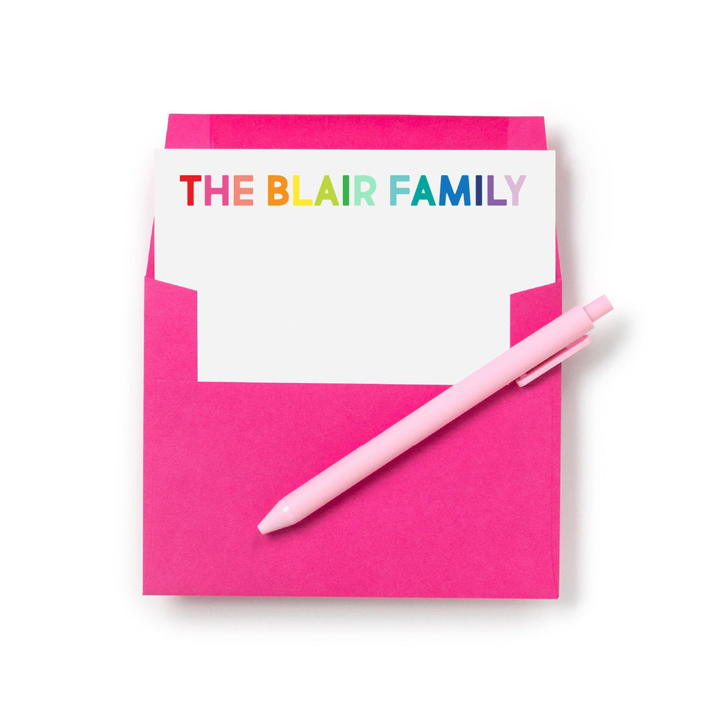 Rainbow Personalized Stationery - Joy Creative Shop