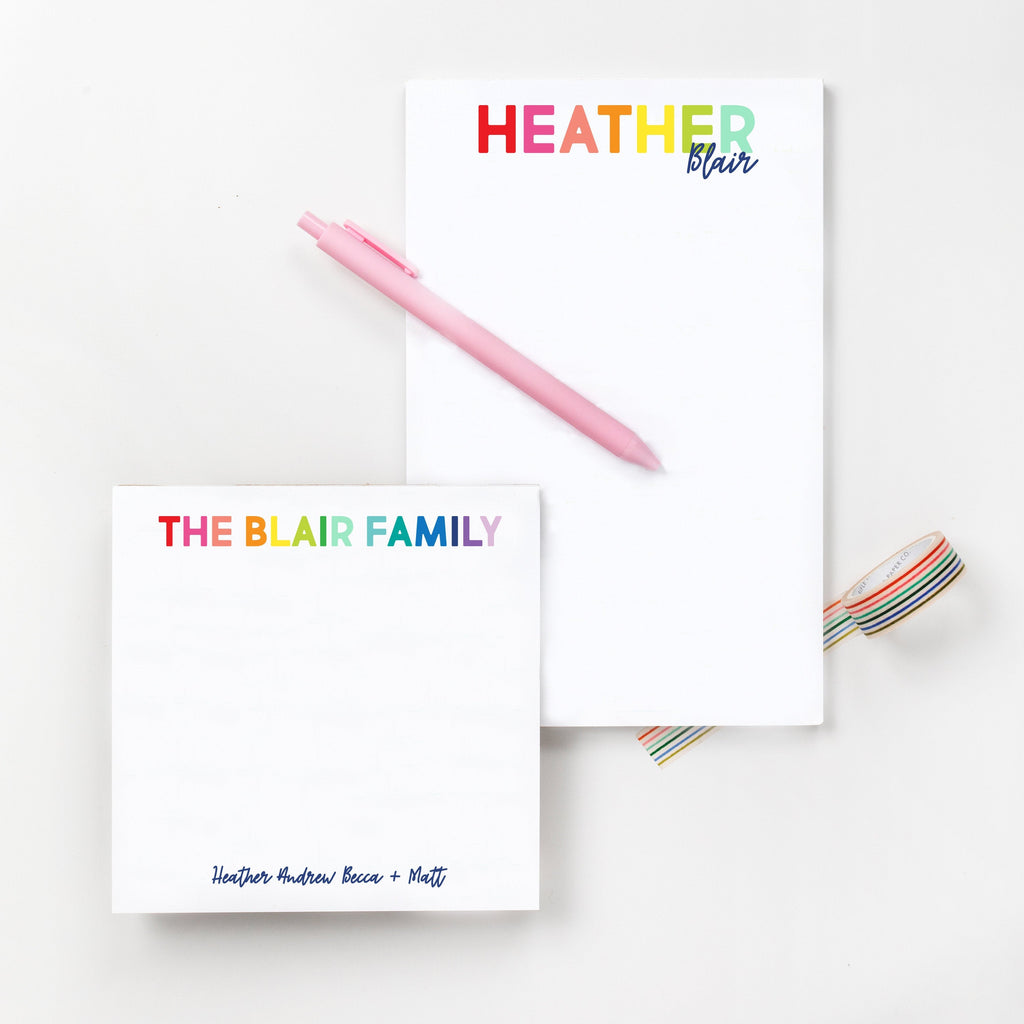 Rainbow Notepad Set - Joy Creative Shop
