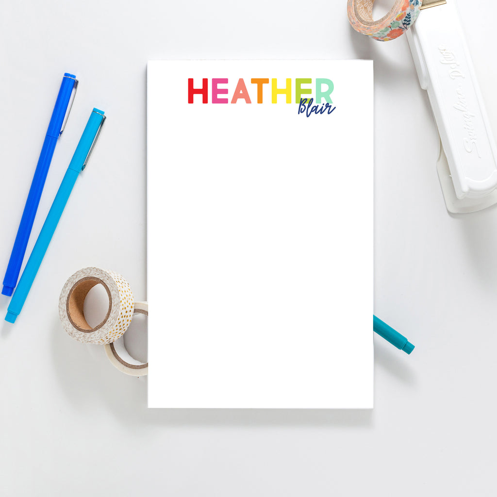 Rainbow Collection Notepad - Joy Creative Shop