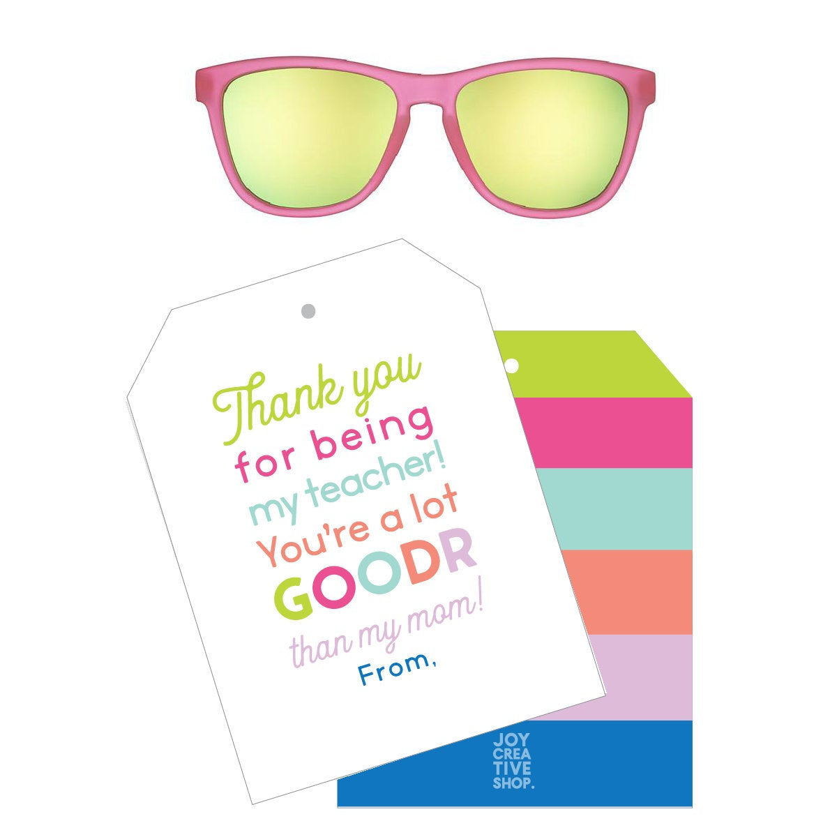 Pink Back to School Goodr Gift Tag