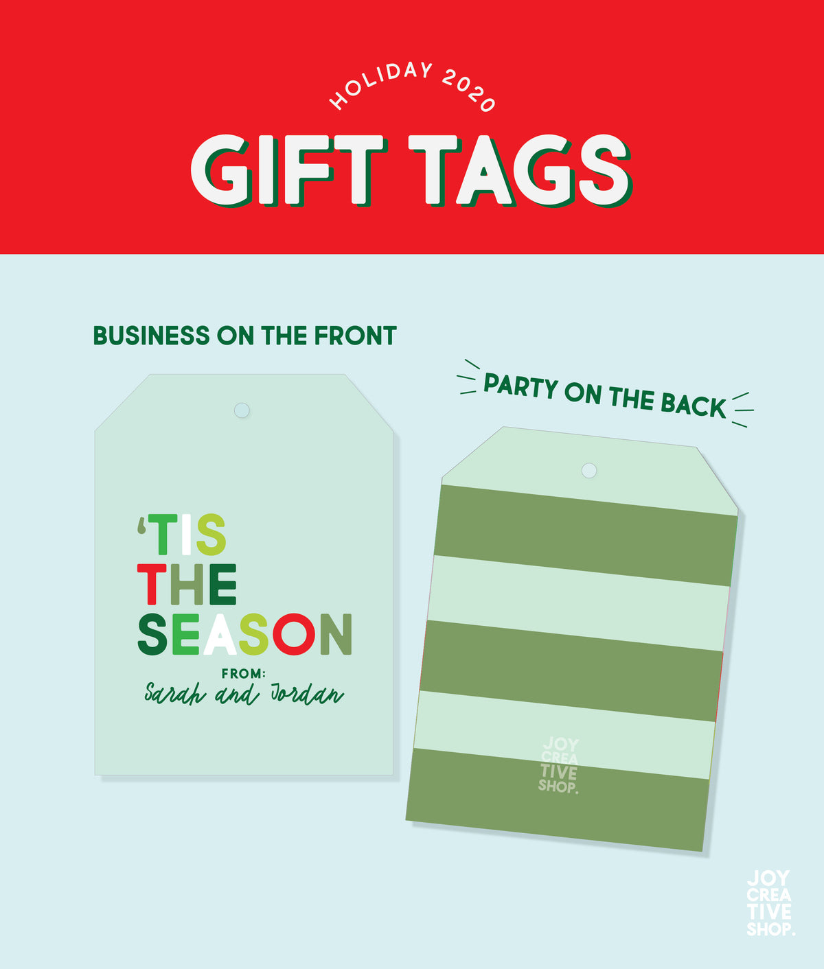 Tis The Season Custom Holiday Gift Tag