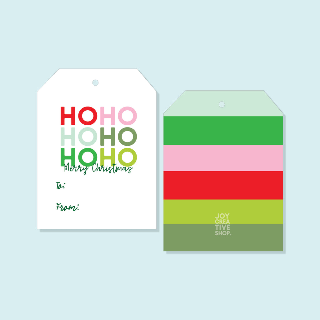 TO FROM Ho Ho Ho Holiday Tag, Merry Christmas,Holiday Gift, Christmas Tag, Holiday Packaging, Gift Tag 004HTFT