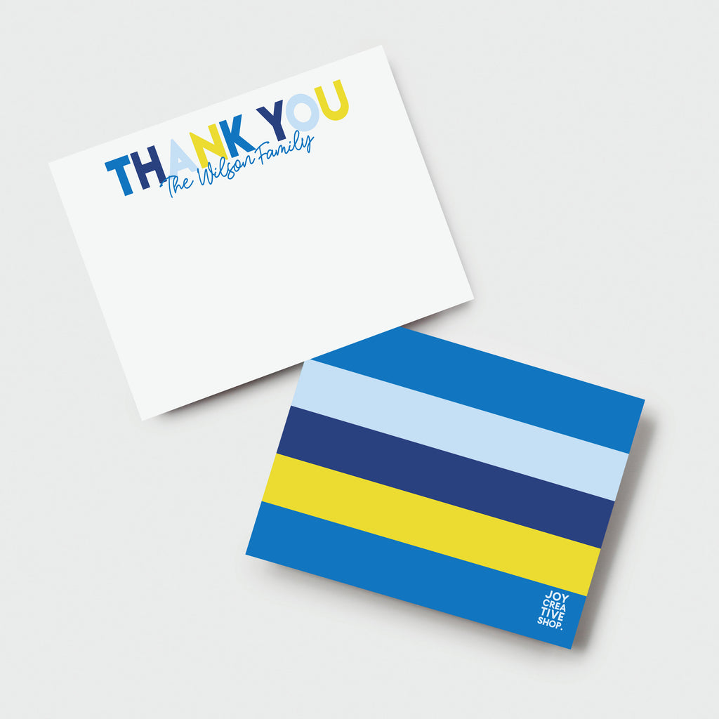 Thank You Holiday Family Stationery - Hanukkah Thank You Notes, Personalized Stationery, Holiday Gift, Kids Presents 005HNC