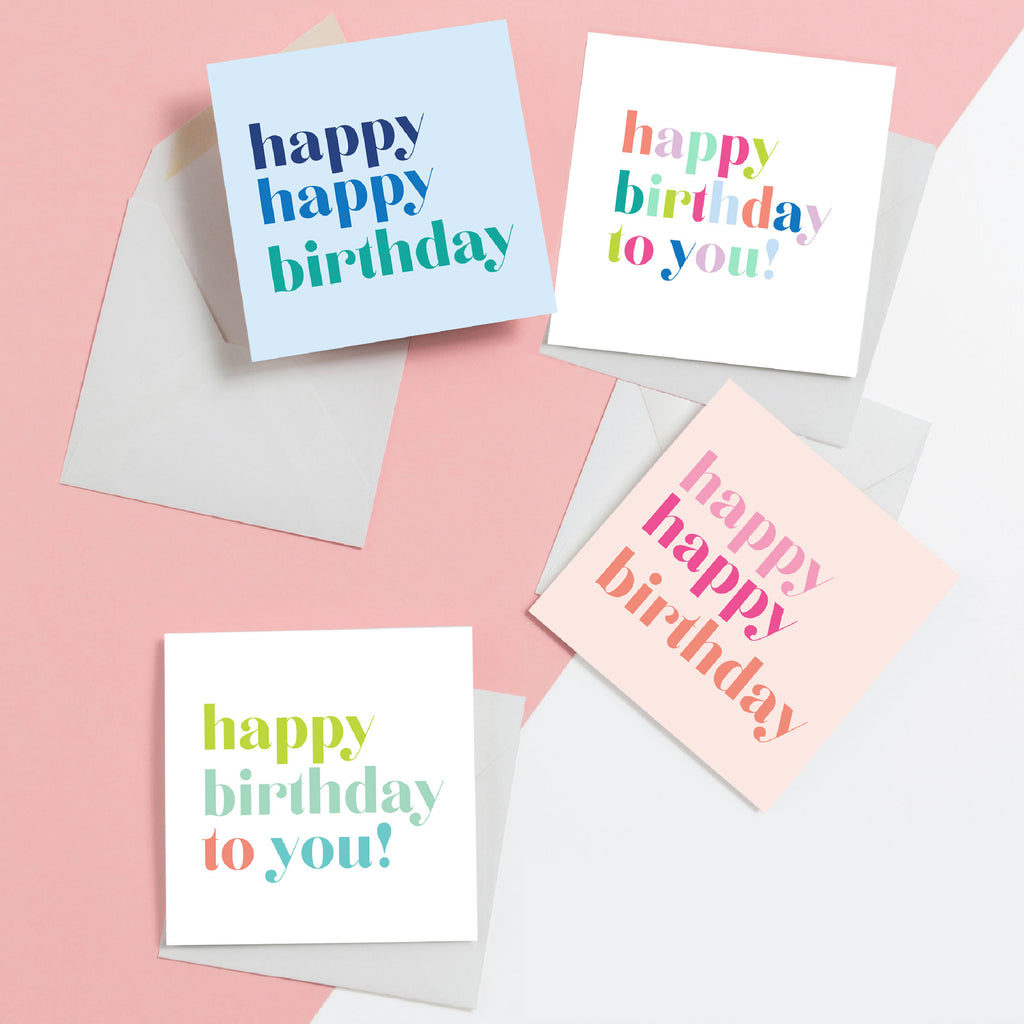 Happy Birthday Gift Enclosure Box Set, Gift Enclosures, Gift Tags, Birthday Gift Wrap