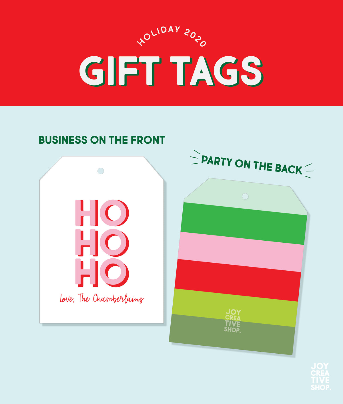Ho, Ho, Ho Custom Holiday Gift Tag