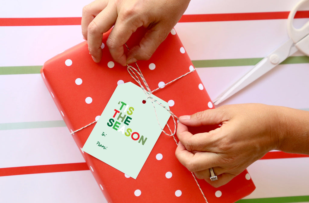 TO FROM Tis The Season Holiday Tag, Merry Christmas,Holiday Gift, Christmas Tag, Holiday Packaging, Gift Tag 006HTFT