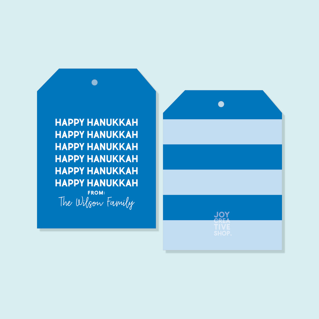 Happy Hanukkah Holiday Tag, Happy Hanukkah Gift Tag, Holiday Gift, Gift Tag, Holiday Packaging, 008HT 2020