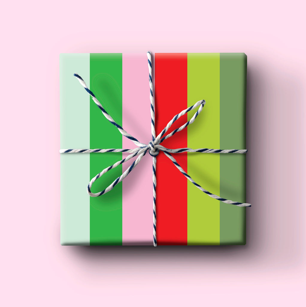 Holiday Pink Stripe gift wrap, everyday wrapping paper, birthday gift wrap, christmas wrapping paper, holiday wrapping paper