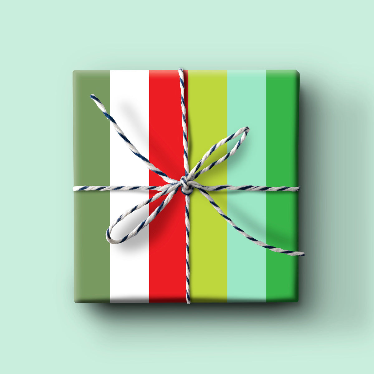 Holiday Thick Stripe Gift Wrap