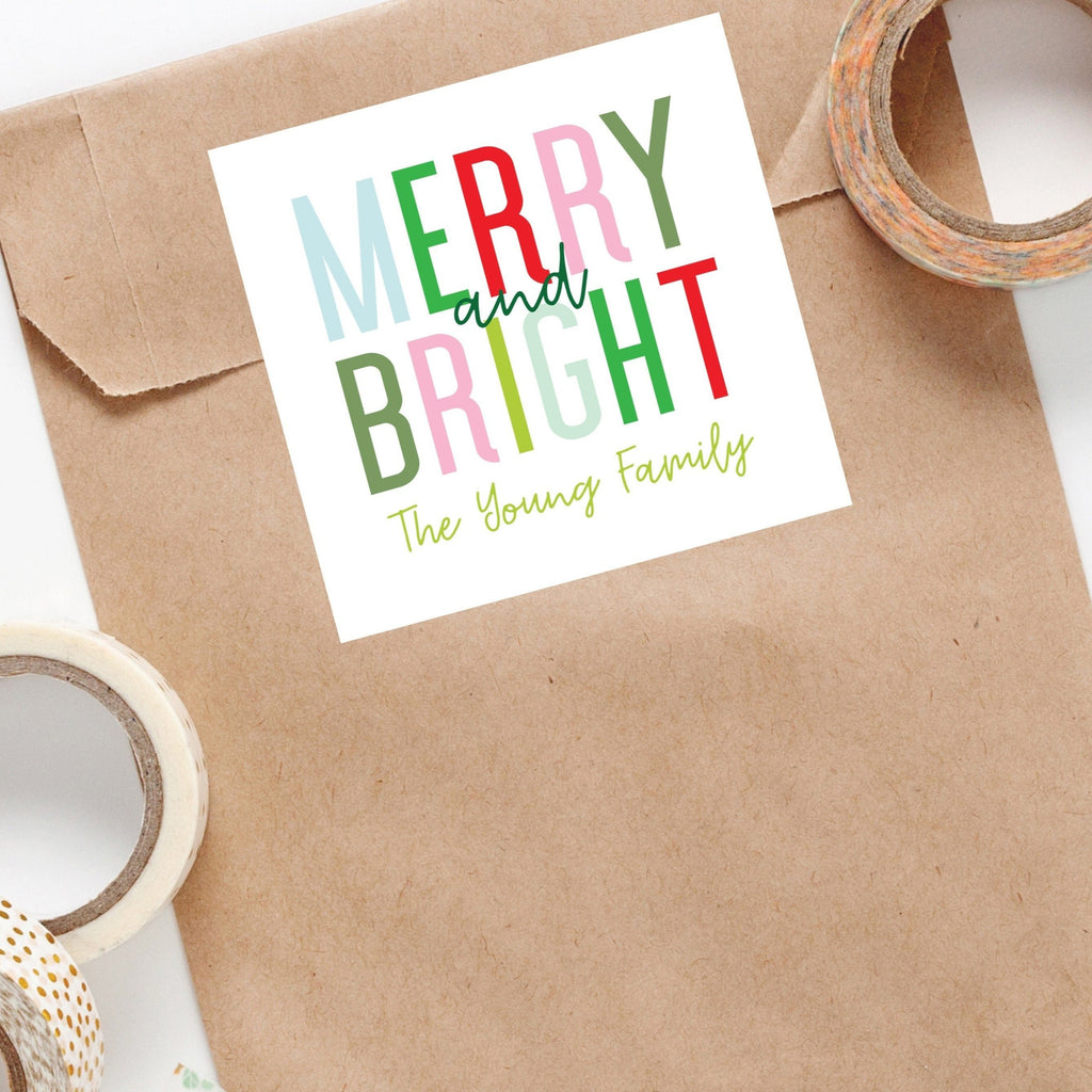 Merry and Bright Holiday Sticker