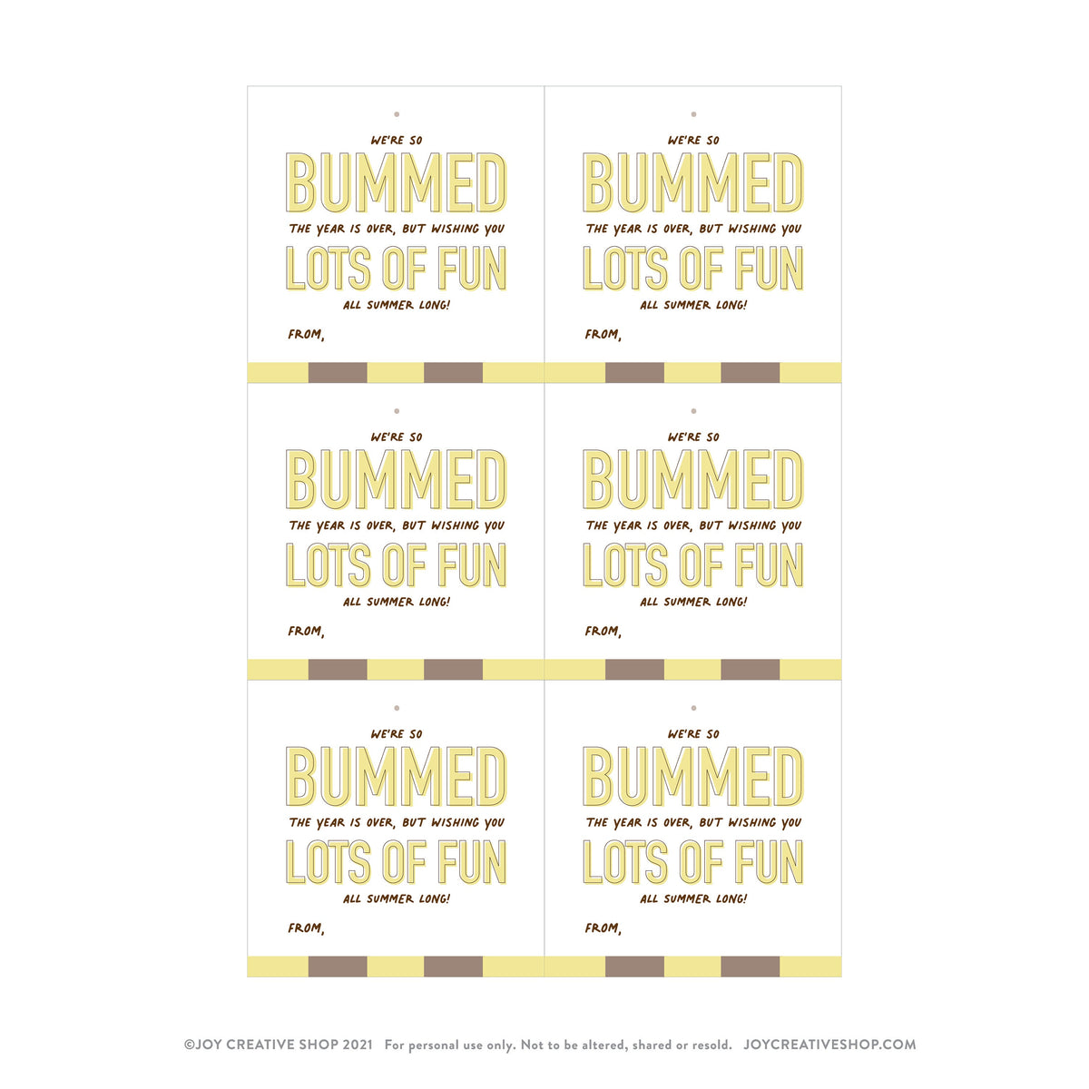 PRINTABLE** Sun Bum Teacher Gift Tag, Teacher Gifts, End of year Gifts, Gifts for teachers, Graduation Gift, Graduation Tag