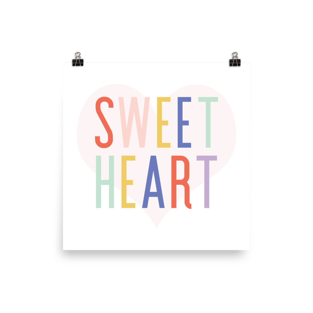 Sweet Heart Art Print - Joy Creative Shop
