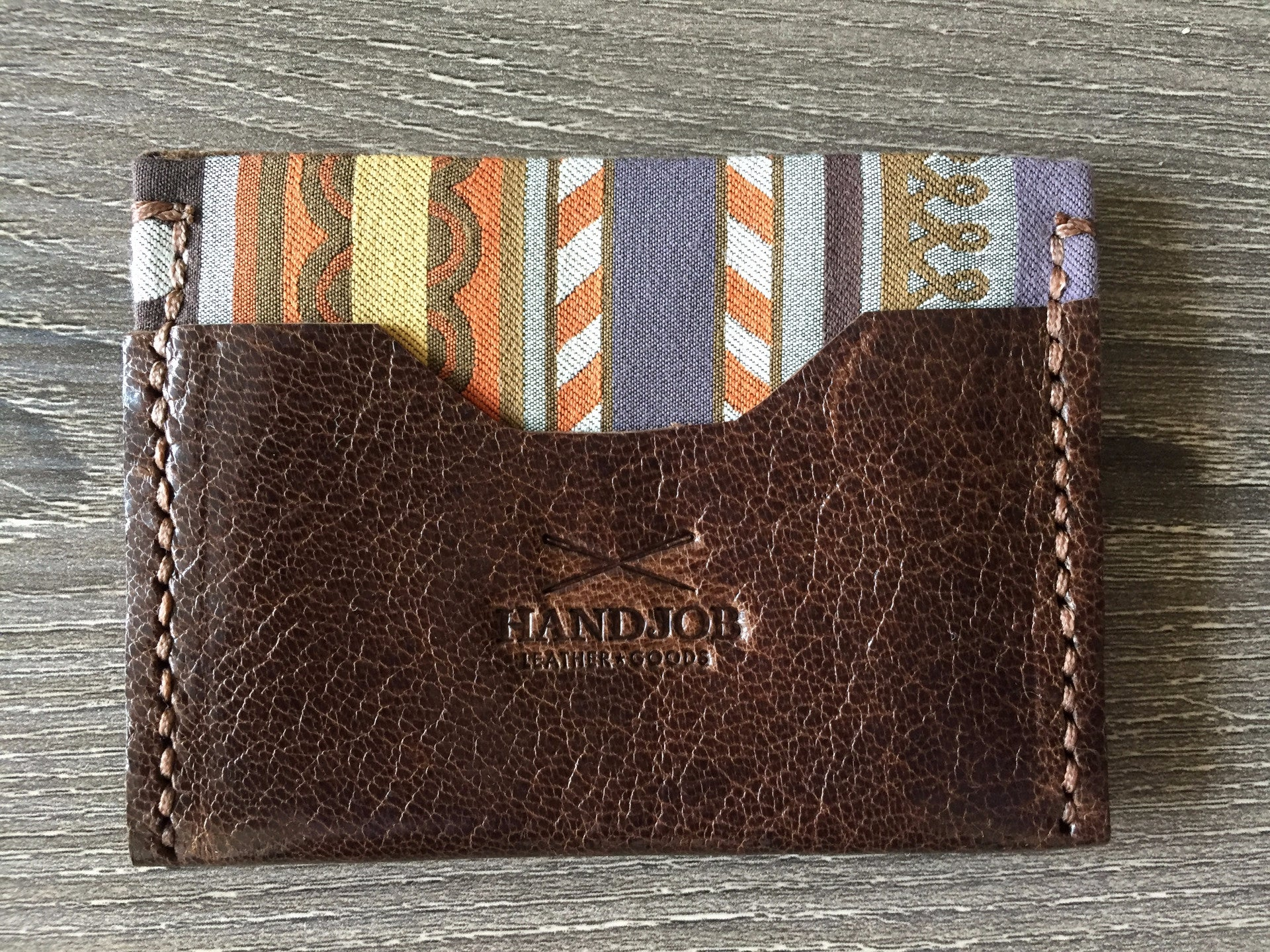 Fabric & Leather Small Wallet Princeton