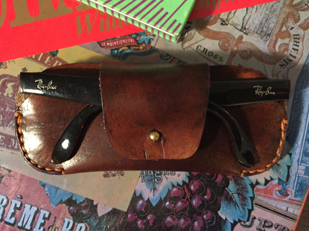 Classic Leather Sunglasses Case
