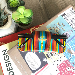 Multicolored Strokes Sunglasses Leather Case