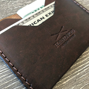 Classic 2 pockets Card Wallet Brown