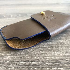 Tobacco Leather Sunglasses Case