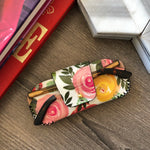 Retro Flowers Leather Sunglasses Case