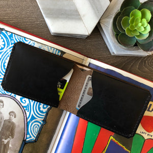 Classic Bi-fold 3 Pocket Wallet Black