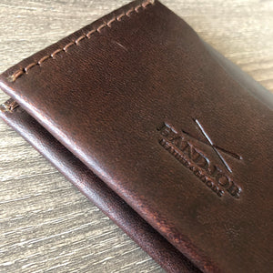 modern bi fold brown wallet