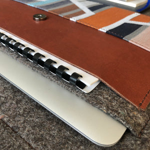 Leather Felt Laptop Sleeve Cover