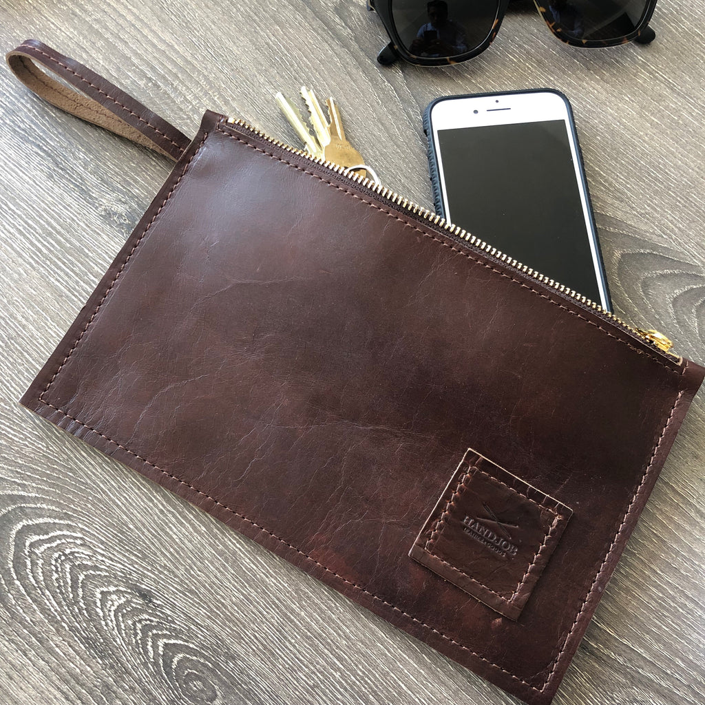 Classic HJ Leather Utility Clutch