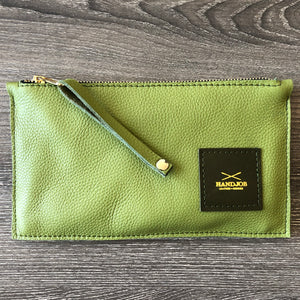 Green leather clucth