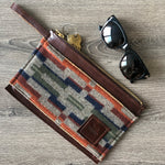Leather & Fabric Utility Clutch
