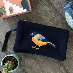 Yellow Bird Clutch Emborydery